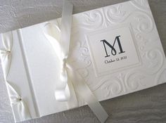 Monogram Wedding Guest Book or Photo Album Vintage by Daisyblu