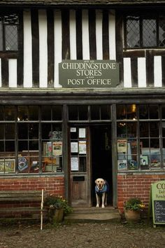 A friendly face to greet you at Englands oldest shop ...