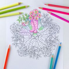 Mandala Coloring Page Spring Coloring Page for Adults