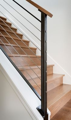 Modern Staircase Design Ideas – The staircase is a very essential design aspect…. Modern Staircase Design Ideas – The staircase is a very essential design aspect. It's always an attractive function, whether it has a standard design or an unusual … Interior Stair Railing, Modern Stair Railing, Stair Railing Design, Staircase Railings, Modern Stairs, Balcony Railing, Staircase Ideas, Stairways, Basement Renovations