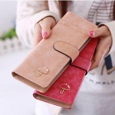 55card leather women female business id credit card holder case passport cover wallets porte carte card holder carteira feminina