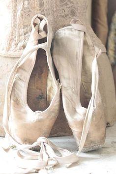 old ballet slippers