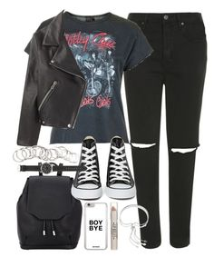 """Outfit for uni"" by ferned on Polyvore featuring Topshop, rag & bone, Converse, H&M, J.Crew and Monica Vinader"