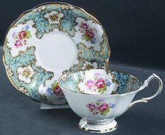 Antique tea cup- england queen Pattern | QUEEN ANNE (ENGLAND) LADY ELEANOR-BLUE at Replacements, Ltd