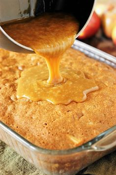 Old-Fashioned Apple Cake ~ Loaded with fresh apples, iced with boiled caramel topping, & studded with crunchy pecans, this is one stunningly delicious apple dessert. Apple Cake Recipes, Apple Desserts, Just Desserts, Baking Recipes, Delicious Desserts, Dessert Recipes, Apple Cakes, Cookie Recipes, Cake Receipe