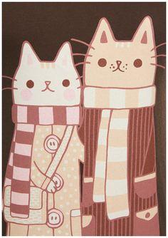 Adorable stylish felines.