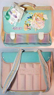 LADY LOVELY LOCKS SOFT SCHOOL BRIEFCASE 1989 MATTEL ITALY Soft School, Lady Lovely Locks, Briefcase, My Wardrobe, Lunch Box, Death, Kawaii, Italy, Cute