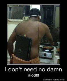Funny pictures about He could really use an iPod. Oh, and cool pics about He could really use an iPod. Also, He could really use an iPod photos. Haha Funny, Funny Cute, Funny Memes, Funny Stuff, Ghetto Funny, Hilarious Jokes, Funny Shit, Funny Things, Ghetto Humor