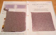 Cuadrado nº 25 de mi manta: MEDIO PUNTO INGLES.  #tricotfacilycreativo #punto #knitting #aprendiendoahacerpunto #squares #blanquet #teconlimonycanela #mediopuntoingles