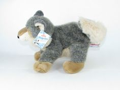 New Wolfgang Wolf Flopsies Aurora AKA Wily the Wolf Stuffed Plush Animal Bean #Aurora