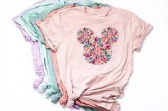 Watercolor Floral Mickey Shirt / Disney World t-shirt /