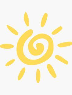 """Mustard Yellow Spiral Sun"" Stickers by rewstudio Sun Background, Iphone Background Wallpaper, Yellow Sun, Mustard Yellow, Suntan Tattoo, Sun Outline, Sun Silhouette, Sun Drawing, Cute Sun"