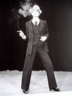 Yves Saint Laurent Spring/Summer 1967 first women's pantsuit collection