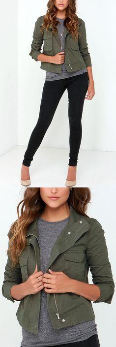 BB Dakota Pax Olive Green Jacket - View Them All Here at Best Chic Fashion <3 <3