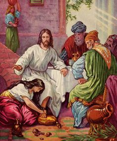 The woman recognized Jesus' value in earth. And she washed Him with her own hair.
