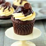Rolo Cupcakes Recipe | My Baking Addiction  her doctored up cake mix with pudding and frozen rolos