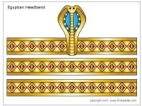 Free printable Egyptian headband templates to color, cut out and assemble into a wearable paper Egyptian headdress - PDFs saved. X