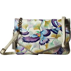 Anuschka Handbags 607 Convertible Envelope Clutch Wristlet (Wings of... ($215) ❤ liked on Polyvore featuring bags, handbags, clutches, leather clutches, anuschka handbags, genuine leather handbags, envelope clutch and man bag