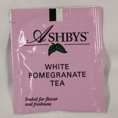 White Pomegranate Tea Bags - Ashbys -20 Count