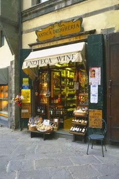 Wine Shop at Cortona, Tuscany... really? maybe I'll go to this shop soon :)