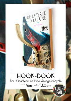 HOOK BOOK Porte manteau vintage & upcycled  par Bubu's Fab