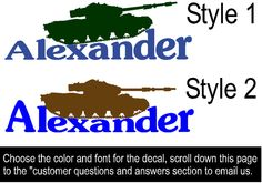 Military tank decal-Army tank decal-Vinyl wall decal-Personalized decal-11 X 28 inch sticker