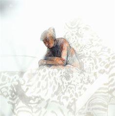 Margaret Woodward Australian Painting, Australian Artists, Collages, 2d Art, Learn To Paint, White Art, Figure Drawing, Figurative Art, Graphic Art