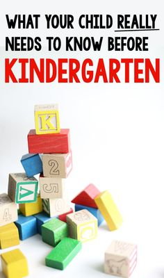 Tips from teachers (and moms) for what your child REALLY needs to know before kindergarten!