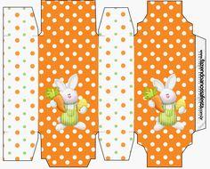 Pascua en Naranja: Cajas para Imprimir Gratis.