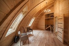 Russian company Skydome has created a series of dwellings that revolve around a contemporary rounded structure. Now under development in the Moscow region, these wooden two-story half-spheres feature a spacious, modern interior with an open floor plan. Best of all, they are relatively inexpensive to build—especially when compared to the price of a studio apartment in Moscow. Skydome has six different models that vary in size, starting at 34 square meters and going up to 300 square meters…