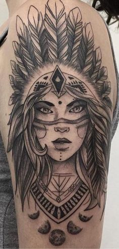 #TopTatuagens Tattoos 3d, Badass Tattoos, Celtic Tattoos, Cute Tattoos, Body Art Tattoos, Sleeve Tattoos, Wiccan Tattoos, Red Indian Tattoo, Indian Girl Tattoos