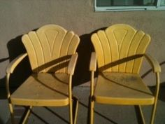 vintage lawn chairs.