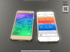 iPhone 6 vs. Galaxy Alpha – 3D renders  A 3D visual comparison of the two devices can offer a realistic look at Apple's upcoming flagship smartphone.