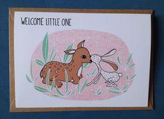 Een persoonlijke favoriet uit mijn Etsy shop https://www.etsy.com/nl/listing/274975162/greeting-card-welcome-little-one-baby