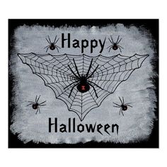 Halloween Poster, Scary Halloween, Happy Halloween, Black Widow Spider, Make Your Own Poster, In The Tree, Modern Artwork, Custom Posters, Custom Framing