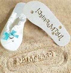 8a5f846a43ac 31 Best Just Married Flip Flops   Wedding Flip Flops images