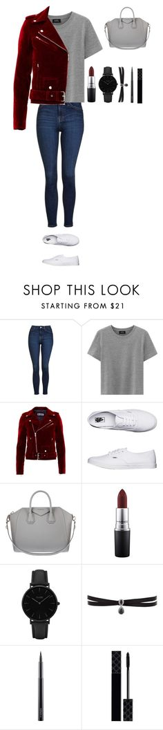 """Untitled #357"" by dutchfashionlover ❤ liked on Polyvore featuring Topshop, Vans, Givenchy, MAC Cosmetics, CLUSE, Fallon, Gucci and casual"