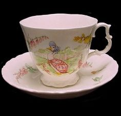 Royal Albert - The World of Beatrix Potter and The Tea Time Collection- Jemima Puddle Duck Cup and Saucer