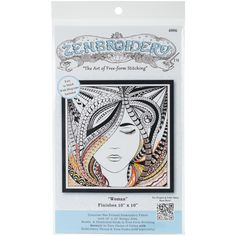 Zenbroidery Stamped Embroidery 10inX10in Woman from Quilting-Warehouse