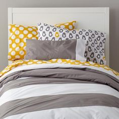 Nursery Twin Bedding  New School Bedding Duvet Cover (Widest Stripe) in Quilts & Duvet Covers | The Land of Nod