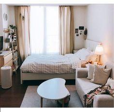 Future Home Interior .Future Home Interior Room Design Bedroom, Small Room Bedroom, Room Ideas Bedroom, Home Decor Bedroom, Cozy Small Bedrooms, Small Bedroom With Couch, Bedroom Ideas For Small Rooms Cozy, Small Bedroom Inspiration, Master Bedroom