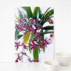 Digital Floral Art Print A4 Orchid Painting Botanical Art