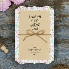 Gorgeous Sweetly Rustic Wedding Invitation Card Design