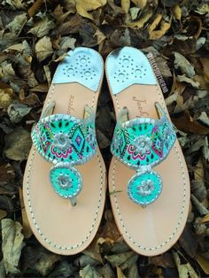 Crown Jewels Lilly Pulitzer Hand Painted Jack Rogers | Lilly Southern Boutique