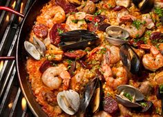 Grilled Paella Mixta (Paella with Seafood and Meat) Recipe. Oh my I miss this!!