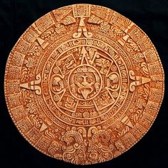 Calendar Time:  One of the Aztec calendars.
