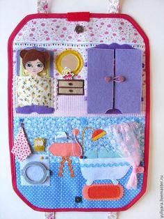 Кукольный дом ручной работы. Кукольный домик - сумка 2. Раевская Юлия. Интернет-магазин Ярмарка Мастеров. Кукольный домик