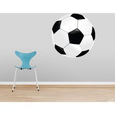 Soccer Ball Printed Sports Wall Decals (185 DOP) ❤ liked on Polyvore featuring home, home decor, wall art, home & living, home décor, silver, wall decals & murals, wall décor, outdoor wall murals and wall murals