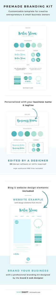 I'm sorry, MintSwift Shop is currently closed - MintSwift Branding Your Business, Branding Kit, Business Names, Branding Design, Make More Money, Make Money Blogging, Blog Website Design, Brand You, Squad