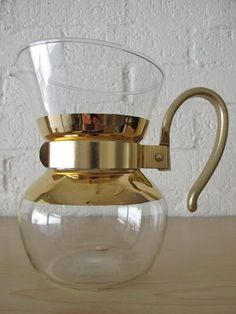 Vintage glass coffee pot